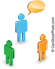 People discussion - Discussion of three people in a...