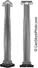 Greek Ionic Column Vector