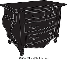 Antique Commode Vector