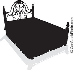 Antique Bed Vector
