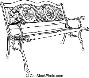 Bench Illustrations and Clip Art. 13,018 Bench royalty ... Park Bench Clipart Black And White