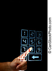 enter secret code on numpad security control