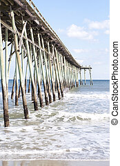 Pier at Carolina Beach, North Carolina - Ocean Pier at...