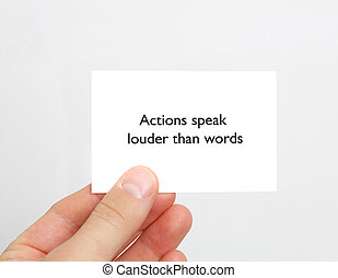 Saying - Action speaks louder than words
