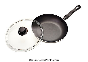 Frying pan with a cover