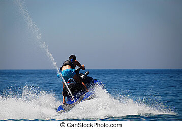 Jet-ski  - Man in action with his jet-ski