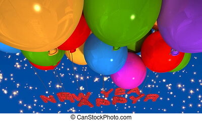 balloon happy new year - A group of balloons with the words...