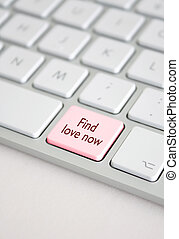 Find love now - A keyboard with a find love now button