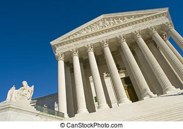 US Supreme Court - The front of the US Supreme Court in...