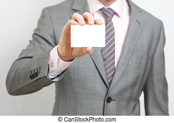 Business man - A business man offering you his business card
