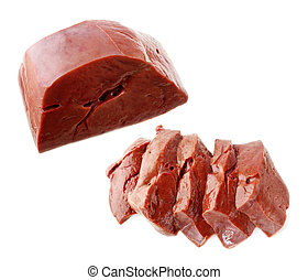 raw liver isolated