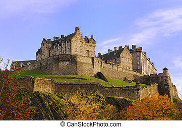 Edinburgh Castle on a beautiful clear, crisp fall day