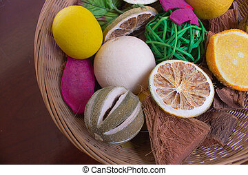 Potpourri - A colorful basket of fruit potpourri