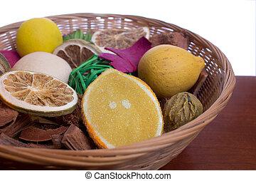 Potpourri - A colorful basket of fruit potpourri