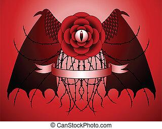 Dragon rose tattoo design