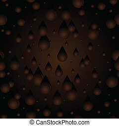 Seamless Chocolate drips - Seamless background of chocolate...