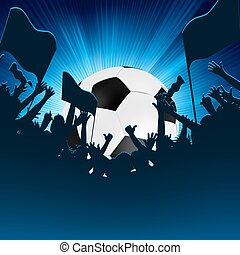 Football fans crowd. EPS 8