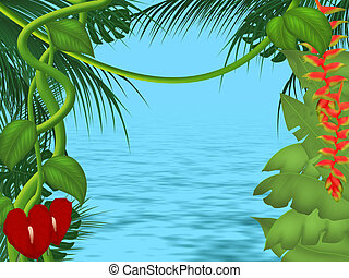 Jungle background - Background or frame illustration