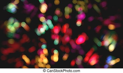 defocused colored circular lights and strips backgrounds