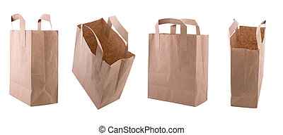 paper bag - four point of view from empty paper bag