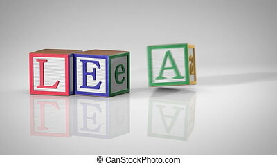 "Blocks Spelling ""LEARNING"""