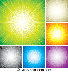 Radial Rays - Vector illustration of radial rays abstract...