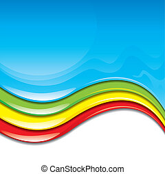 Color Paint - Colorful paint flowing background vector...