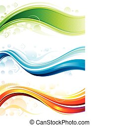 Web Banners - Set of technology web backgroundbanner Vector...