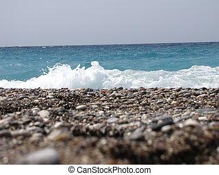 small waves at beach