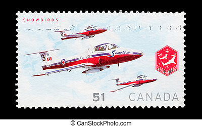 snowbirds - mail stamp printed in Canada featuring the...