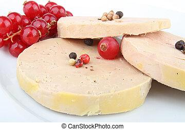 foie gras - goose liver and red currant