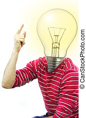 Idea - young man having idea