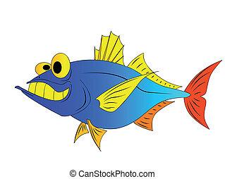 funny tuna - fish,pike,  minnow, sea, ocean, fishing,