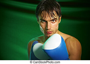 Boxing. Man in boxing gloves