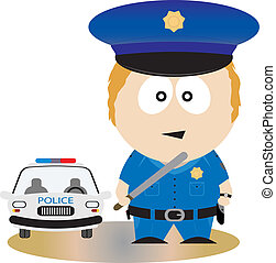 Police Officer. Vector illustration for you design