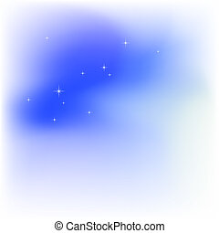 Sky, clouds, stars. Abstract light blue vector background