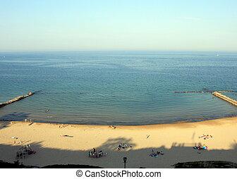Lake Michigan Beach - Aerial view of a beach close to...