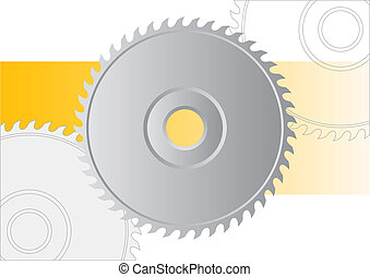 saw - Circular saw isolated on the white.