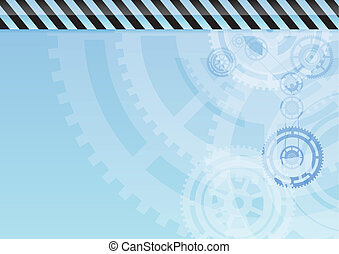 background - Blue industrial background with teeth