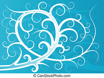 background - Abstract vector background with swirls