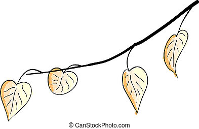 branch - Simple vector branch with leafs.