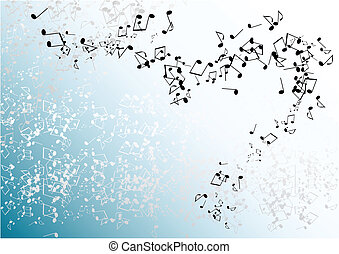 blue notes - blue music background with notes