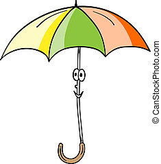 smile umbrella - Vector simple illustration of umbrella