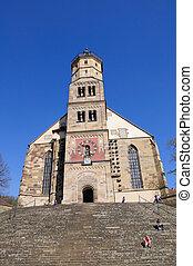 Schwabisch Hall, Germany - St.Michael's Church in Schwabisch...