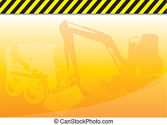 construction - Orange background with construction theme