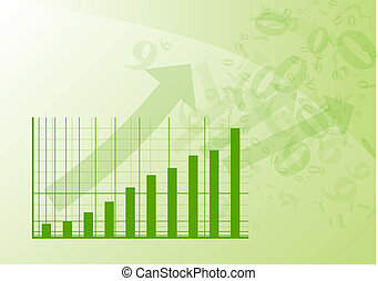 Green graph is going up