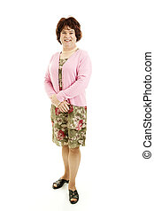 Man In Drag - Full Body - Humorous photo of a middle-aged...