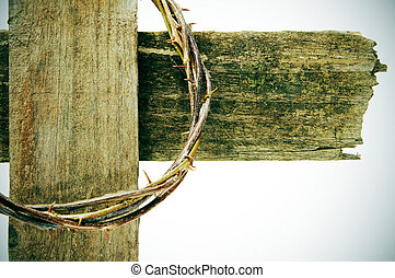 crown of thorns and cross - the crown of thorns and the...