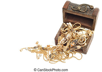 Woman gold jewelry