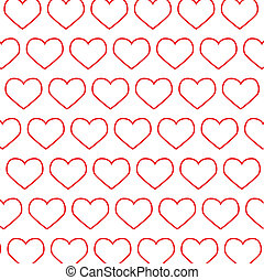 Abstraction from red hearts.Vector